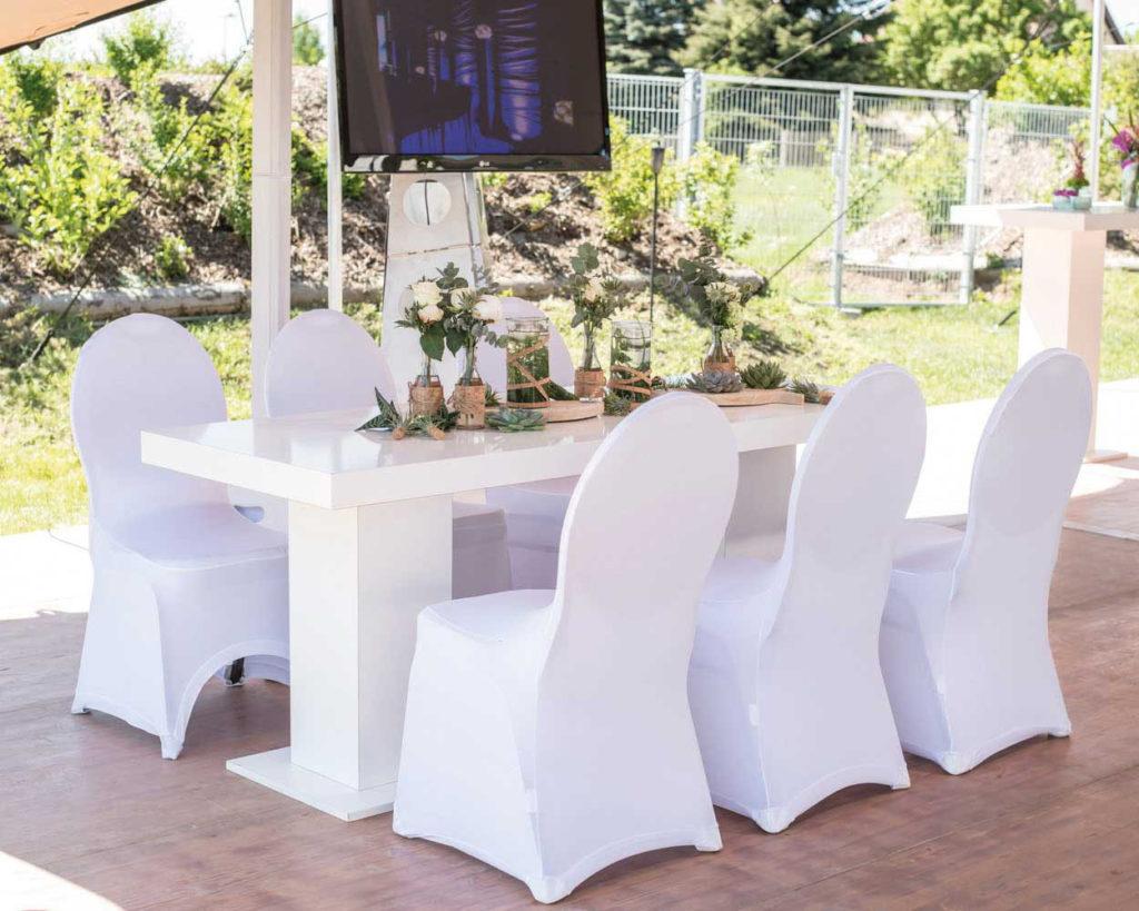 Melody Dinnertisch weiß Hochzeitstafel Vintage